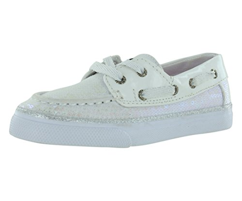 Sequins Bahama Infants (Sperry Top-Sider Bahama Boat Shoe (Toddler/Little Kid),White/Iridescent,12 M US Little Kid)