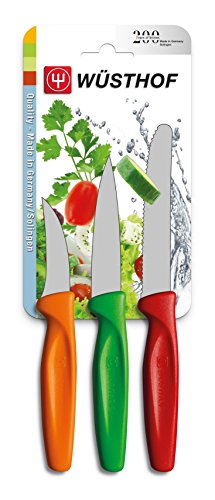 Wusthof Multi-Colored Carbon Steel 3 Piece Knife Set