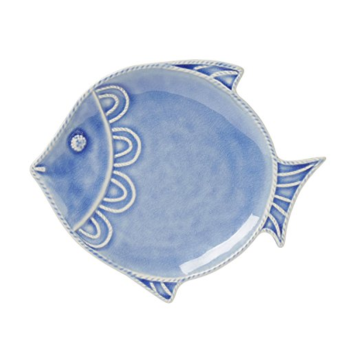 Fish Thread - Juliska Berry & Thread Delft Blue Crackle Fish Dessert/salad