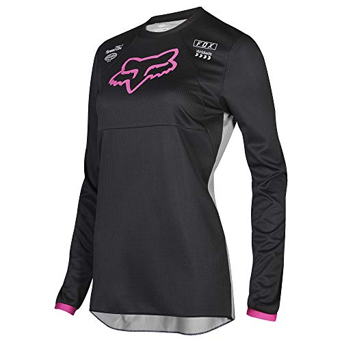 Womens Motocross Jerseys - Fox Racing 2019 Womens 180 MATA Jersey-Black/Pink-L