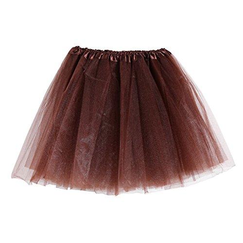 MIOIM Ladies Girls Tulle Tutu Skirts Dancewears Pettiskirt Mini Fancy Dress -