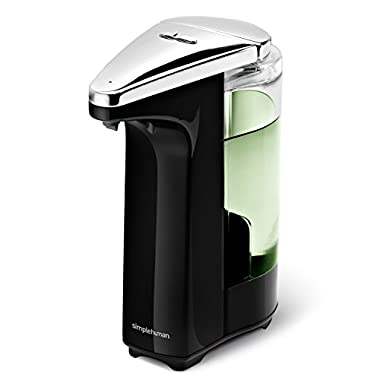 simplehuman 8 oz. Sensor Pump with Soap Sample, Black