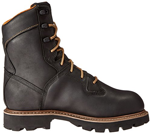 Timberland Pro Mens 8 Crosscut Waterproof Soft-Toe Logger Work Boot Black Full Grain Leather