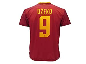 Camiseta de fútbol para niños o adolescentes, Roma, Dzeko, 9, réplica autorizada, 2017-20108, Größe 2 Jahre