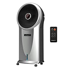 The Luma Comfort EC110S Portable Evaporative Cooler keeps your living space cool and comfortable using patented cyclonic cooling technology.  This air cooler's fan head oscillates and projects a targeted beam of air around your living space s...