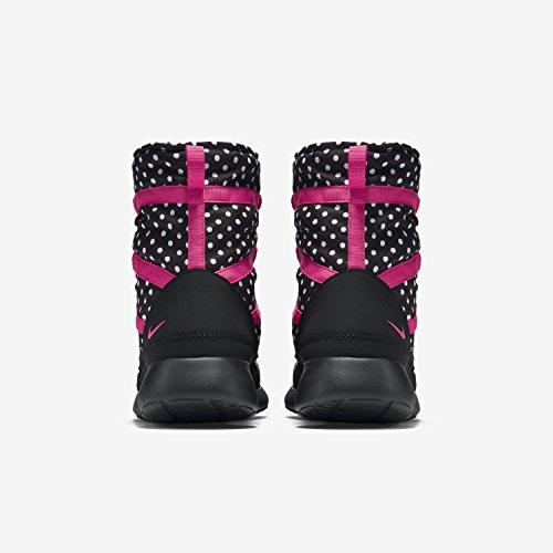 Ragazze Giovani Nike Roshe Uno Stivali Di Stampa Hi Taglio Blu / Bianco Nero / Colore Rosa