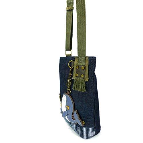 Canvas Messenger Women Blue Bag Body Denim Handbag Blue Cross Chala Patch Denim Whale WX8q01wAtx