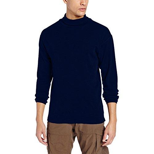 Minus33 Merino Wool Clothing Men's Kinsman Midweight Wool Turtleneck, Navy, ()