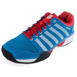 K-Swiss Hypercourt express - Zapatillas Tenis/Padel (Methly blue/Fiery red) - 42: Amazon.es: Zapatos y complementos