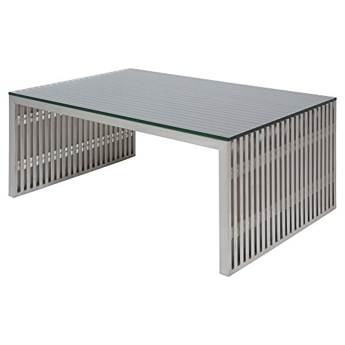 Nuevo Amici Large Coffee Table in Silver