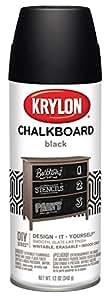 Krylon I00807007 Chalkboard Aerosol Spray Paint, Black, 12 Ounce