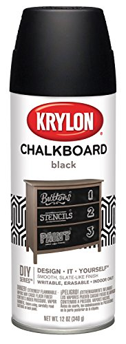 Krylon I00807007 Chalkboard Aerosol Spray Paint, Black, 12 Ounce