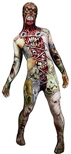 UHC Men's Facelift Morphsuit Monster Outfit Horror Theme Halloween Costume, L - Facelift Halloween Costume