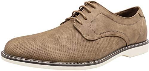JOUSEN Mens Oxford Suede Business Casual Dress Shoes Plain Toe Oxfords Classic Formal Derby Shoes
