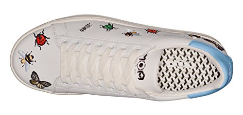 Pelle Bianca Colorati Sneakers Ricami Insetti Moa 38 5q7CfwEOxx
