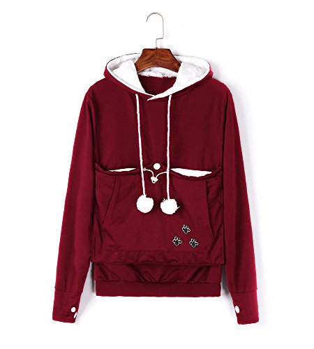 Unisex Cat Ear Big Kangaroo Pouch Hoodie Long Sleeve for sale  Delivered anywhere in USA