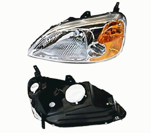 TYC 20-6238-00 Honda Civic Driver Side Headlight Assembly