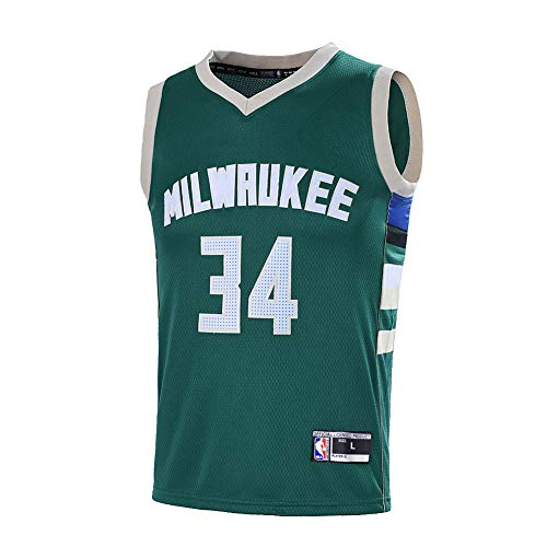 Outerstuff Youth 8-20 Milwaukee Bucks #34 Giannis Antetokounmpo Jersey (Youth Small 8, Green)    - Milwaukee Bucks Youth Jersey