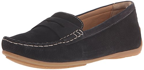 CLARKS Damen Doraville Nest Slip-On Loafer Schwarzes Nubuk