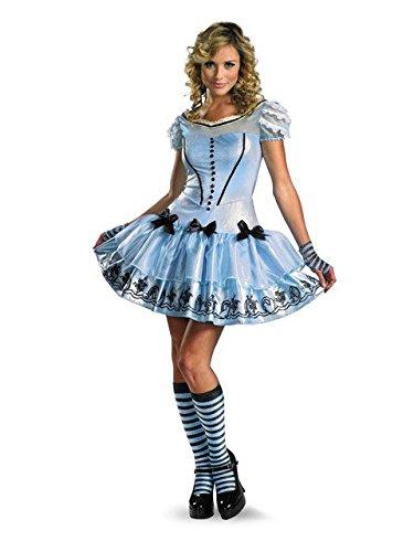 Disguise Women's Alice In Wonderland Movie Sassy Dress Costume, Light Blue, Medium ()
