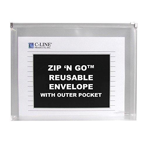 C-LINE Zip 'N Go Expanding Portfolio with Outer Pocket, L...