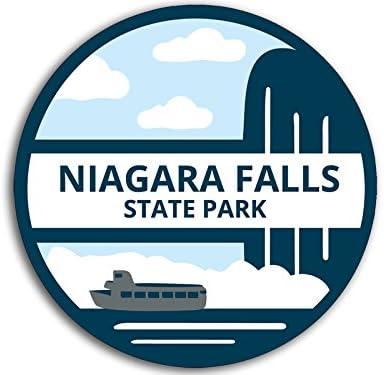 ny Historic Landmark American Vinyl Round Niagara Falls State Park Sticker