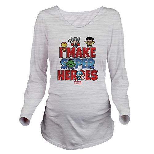 (CafePress I Make Super Heroes Long Sleeve Maternity T Shirt Long Sleeve Maternity T-Shirt, Cute and Funny Pregnancy Tee Ash Grey)