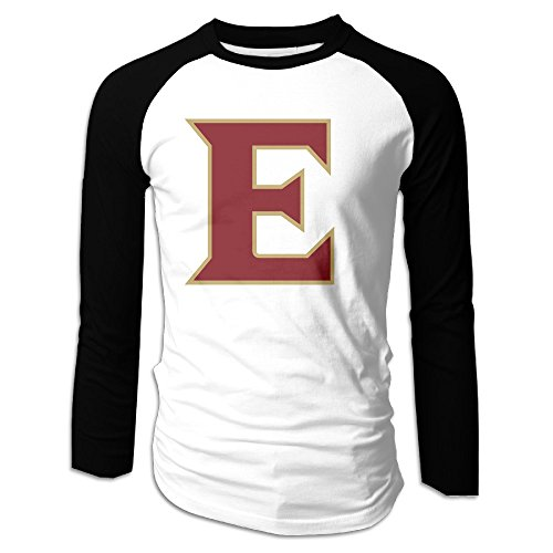 Price comparison product image HROSE Elon University - E Logo Men Baseball Athletic Reglan Sleeve Crew Neck T-shirt X-Large