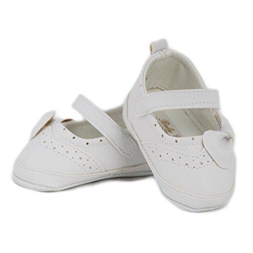 Festliche Babyschuhe Ballerinas weiß matt Taufschuhe Gr. 17 Modell 4693