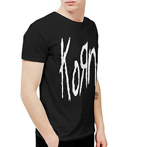 Douglas-A Mens Particular Korn T-Shirt and Washed Denim Hat Casquette S Black (Printed Korn T-shirts)