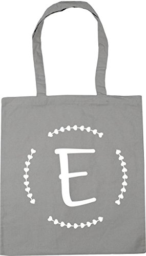 litres x38cm Beach Tote 10 HippoWarehouse Initial Light Bag Gym 42cm E Shopping Grey qw8aXvw