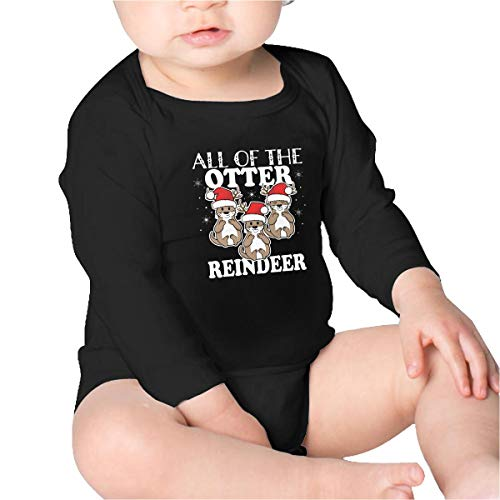 Price comparison product image Pikaqiuleilei All of The Otter Reindeer Cute Christmas Holiday Baby Cotton, Long Sleeve Baby Romper