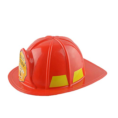 loinhgeo Simulation Fireman Chief Safety Helmet Firefighter Hat Cap Kids Durable Party Supply 1