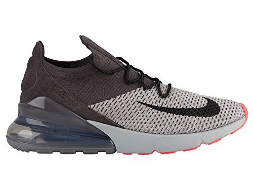(Nike Air Max 270 Flyknit - Men's Atmosphere Grey/Hyper Punch/Thunder Grey Nylon Training Shoes 12 D(M) US)