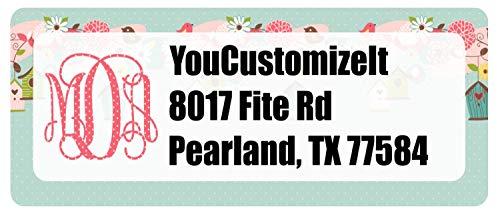 (Easter Birdhouses Return Address Label (Personalized))