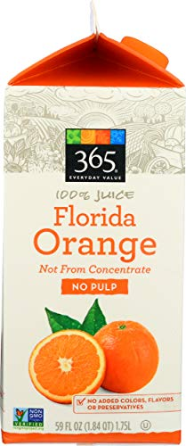 365 Everyday Value, Florida Orange Juice, Not From Concentrate, 59 fl oz