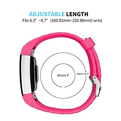 for Fitbit Charge 2 Band, GHIJKL Soft Silicone Adjustable Replacement Sport Strap Band for Fitbit Charge 2 Smartwatch Heart Rate Fitness Wristband