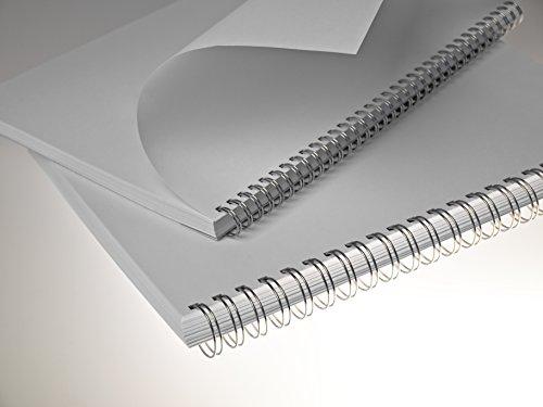 Renz One Pitch Drahtkamm-Bindeelemente in 2:1 Teilung, 23 Schlaufen, Durchmesser 16.0 mm, 5/8 Zoll, silber/glänzend
