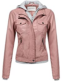 Amazon.com: Pinks - Leather & Faux Leather / Coats, Jackets ...