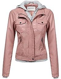 Amazon.com: Pinks - Leather & Faux Leather / Coats, Jackets ...