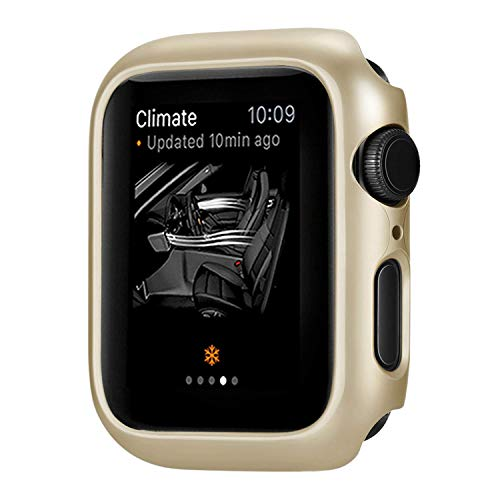 (for Apple Watch 38mm 42mm PC Case Protector Cover, Shock-Proof Scratch-Resistant Protector Bumper Frame Shell Protective Cover Case for Apple iWatch Series 1 2 3 (Champagne, 38mm))