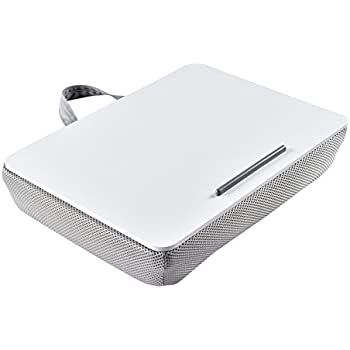 WELLAND 15-Inch Air Mesh Student Laptop Lap Desk Serving Bed Tray, White