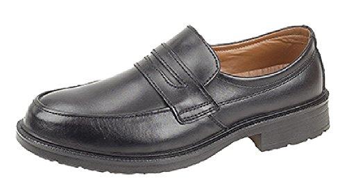 Grafters  Managers Saddle Slip On Safety Shoe, Herren Sicherheitsschuhe Schwarz schwarz