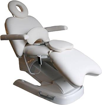 rollbare elektrische Luxus-Kosmetikliege mit Neigungs-, Rücken- und Beinteilverstellung Farbe weiß