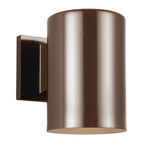 Sea Gull Lighting 8313901BLE-10, Bullets Cast Al ES Outdoor Wall Sconce Lighting CFL, Bronze - Es Outdoor Sconce