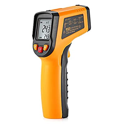 Digital Infrared Thermometer, GM320 Non-Contact Laser LCD Display Digital IR Infrared Thermometer Temperature Tester Gun Powered By 2 AAA Batteries(Not Included)