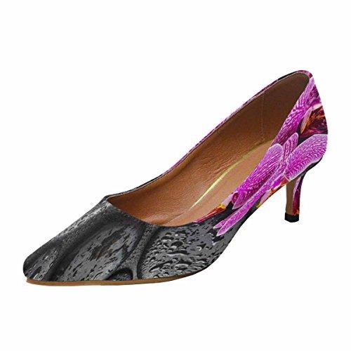Scarpe Da Donna Low Cost Con Tallone Gattino Scarpe A Punta Scarpe Viola Orchidea, Pietre Zen Multi 1