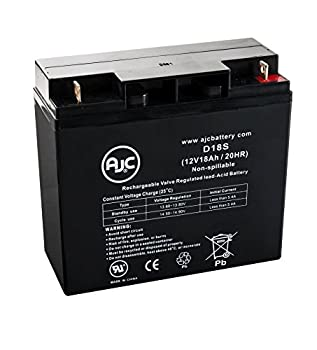 WKA12-18NB 12V 18Ah Wheelchair Battery - This is an AJC Brand Replacement