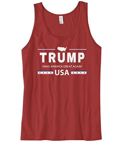 Cybertela Men's Trump Make America Great Again USA Tank Top (Red, - A Shirt At Of Top Out Tank Make