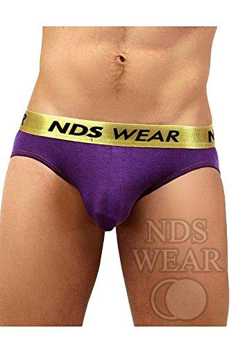 373bef58e8 NDS Wear Men's Gold Status Anatomic Jock Sexy Enhancing Pouch Underwear  Purple Small